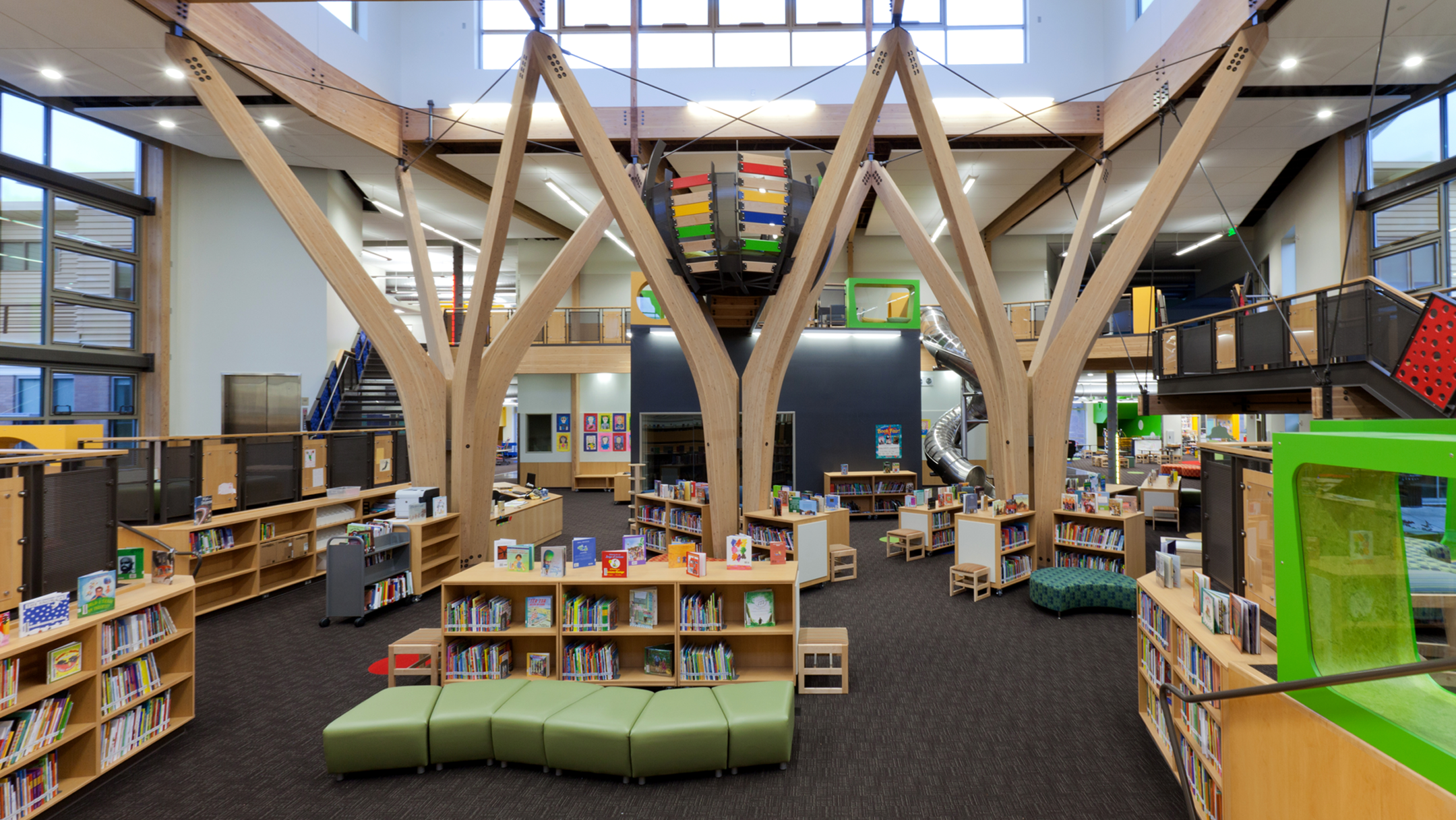 Trillium Creek Primary School interior library